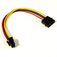 2x4-Pin Molex Male to 6-Pin Power Female