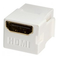 Connector Keystone White HDMI Female/Female Surveillance