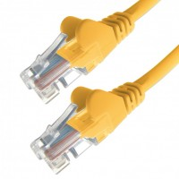 RJ45 UTP Cat6 Stranded Yellow 1' HQ Network Cable