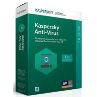 Kaspersky Anti-Virus 2017 3-Pack 1-Year Box