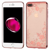 iPhone 7 Plus Case Rose Gold Plating/Secret Garden Diamante Candy Skin