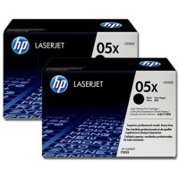 Laser HP 05X Black Dual Pack CE505XD Printer Supplies