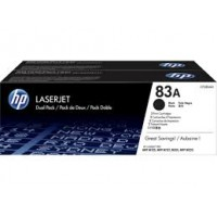 HP 83A Black Toner Dual Pack CF283AD