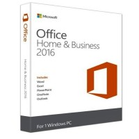 Microsoft Office 2016 Home & Business Edition Box 1PC Medialess