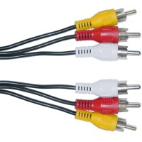 RCA Video/Audio 6' (3 RCA Male *2) Cable