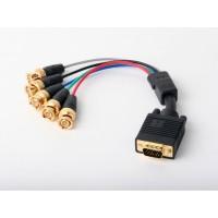 VGA Male/5xBNC Male 6' Cable