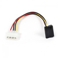 Power Molex 4-pin Male to SATA L Shape Female Cable