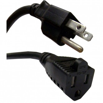 Power Extension 3-Prong 15' Cable