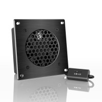 AC Infinity AIRPLATE S1 Home Theater AV Cabinet Quiet Cooling Fan System with Speed Control Four Inch