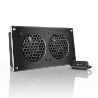 AC Infinity AIRPLATE S5 Home Theater and AV Quiet Cabinet Cooling Fan System 8 Inch