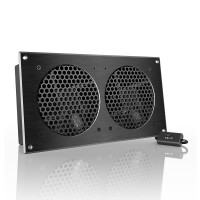 AC Infinity AIRPLATE S7 Home Theater and AV Quiet Cabinet Cooling Fan System 12 Inch