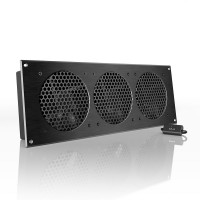 AC Infinity AIRPLATE S9 Home Theater and AV Cabinet Quiet Cooling Fan System 18 Inch