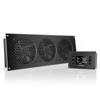 AC Infinity AIRPLATE T9 Home Theater and AV Quiet Cabinet Cooling Fan System 18 Inch