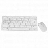 Battery Operated Wireless Mini Keyboard & Mouse Combo With Silicone Keyboard Protector