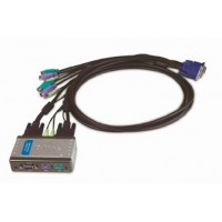 KVM D-Link 2-Port Switch USB w/Cables & Audio KVM-222 KVM/Video Accessory