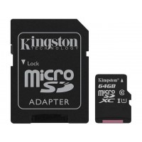 Kingston Canvas Select 64GB microSDXC Memory (Flash Memory) SDCS/64GBCR