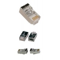 RJ45 8P8C Cat5e Shielded Connector for Round Stranded Cable Network Connector