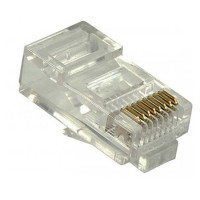 RJ45 8P8C Cat5e Connector for Round Stranded & Solid Cable Network Connector