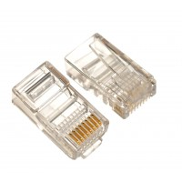 RJ45 8P8C Cat6 Connector for Round Stranded & Solid Cable Network Connector