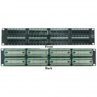 48 port CAT6 Patch Panel, 110 Type, 568A & 568B Compatible