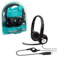 Logitech H390 Stereo HeadSet Noise Cancelling Mic, Rotating mic, Adjustable Headband, USB