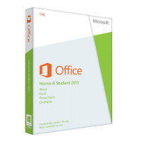 MS Office 2013 Home & Student Edition Box 1PC Medialess Software