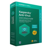 Kaspersky Anti-Virus 2018 3-Pack 1-Year Box