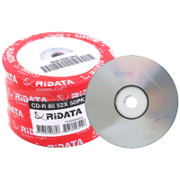 CD-R HP OR Ridata 700MB 80min 52X 50 Pack Media