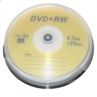 DVD+RW ThirdParty 4X 4.7GB 10pcs Media