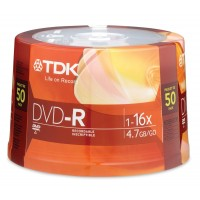 DVD-R TDK 16X 50pcs Spindle Media