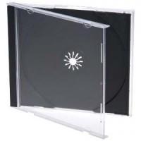 CD/DVD Case Jewel 1pc Black Tray
