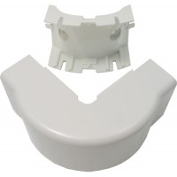 Cable Management External Cover Corner 3/4'' White