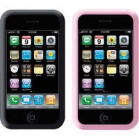 Case iPod/iPhone Silicone Sleeve Black & Pink Mobility