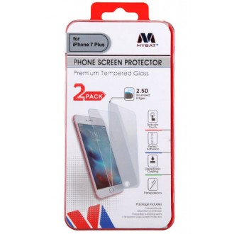 MYBAT iPhone 6/6s/7/8 Plus Tempered Glass Screen Protector (2.5D)(2-pack) IP7PLUSLCDSCPR81TW