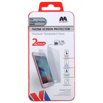 MYBAT iPhone 6/6s/7/8 Tempered Glass Screen Protector (2.5D)(2-pack) IPHONE6LCDSCPR81TW