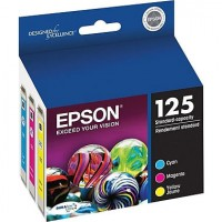 EPSON 125 (T125520S) Ink Cartridge, Multi-pack (Cyan, Magenta, Yellow)