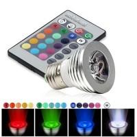 LED E27 3 Watts RGB w/Remote