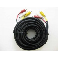 RCA Video/Audio 25' (3 RCA Male *2) Cable
