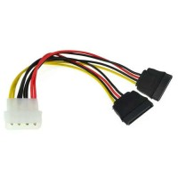 Power Molex 4-pin to 2x SATA Y Cable