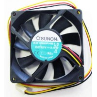 Sunon 80x80x15mm 3pin  Fan KD1208PHB1-A