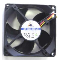 Glacialtech SilentBlade 80x80x25mm 3+4pin Hydro Bearing Fan GT8025-BDLA1