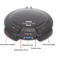 Aten 8-Port VGA Switch w/Remote KVM/Video Accessory