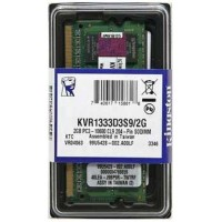 Kingston ValueRAM 2GB 204-Pin DDR3 SO-DIMM DDR3 1333 (PC3 10600) Laptop Memory Model KVR1333D3S9/2G