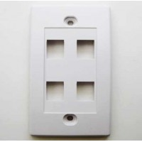 RJ45 Wall Plate 4 Space White Network Connector