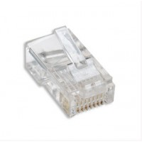 RJ45 8P8C Connector for Round Solid Cable Network Connector