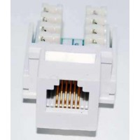 RJ12 Cat3 Keystone Jack White Punch-In Network Connector
