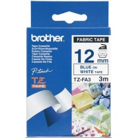Brother TZFA3 Navy Blue on White Fabric Iron-on 12 mm (0.47'') Tape for P-touch, 3 m (9.8')
