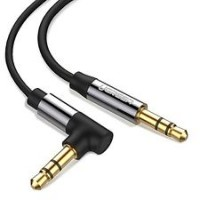 AUX 3.5mm M/M Right-Angle Heavy Duty 3' (Audio/Stereo)
